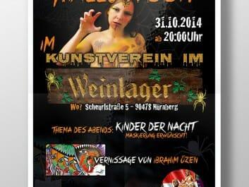 Veranstaltungsplakat für den Kunstverein im Weinlager
